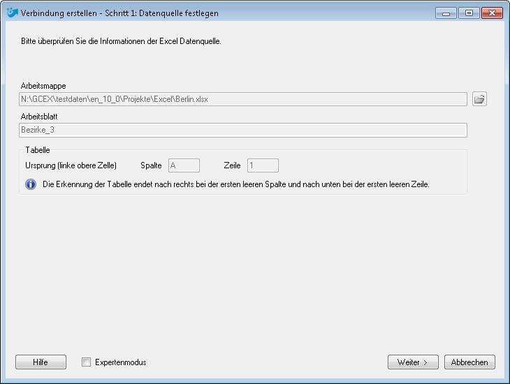 Excel Daten nach ArcGIS exportieren und eine Verbindung erstellen