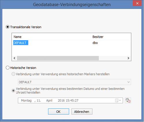 Verbindungen Zur Arcsde Geodatabase