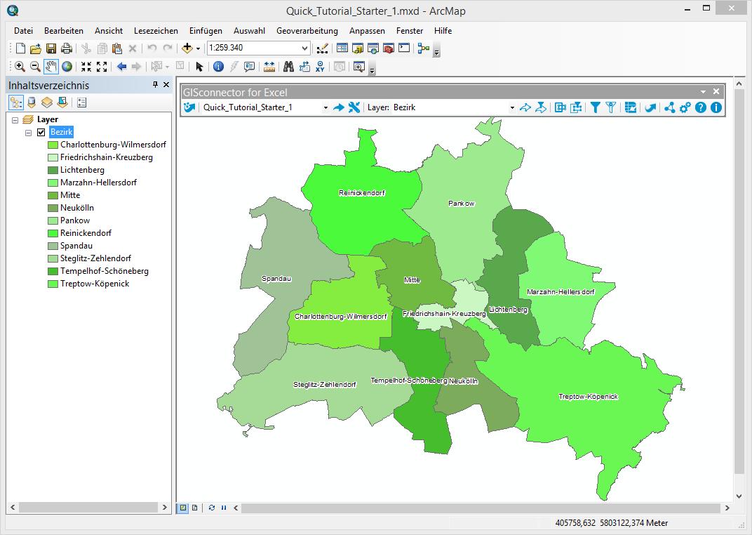 Lektion A: Übertragen von Daten zwischen ArcGIS und Excel